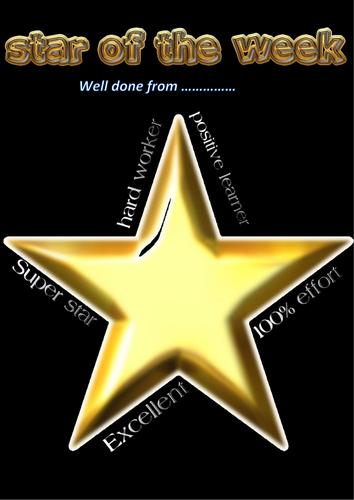 Rewarding students (Star of the week)