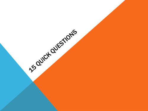 15 + 10 Quick Questions - ICT Edexcel Unit 1 Living in a digital world