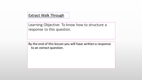 Romeo and Juliet: A Walk Through of the Extract Question in Literature Component 1A - EDUQAS