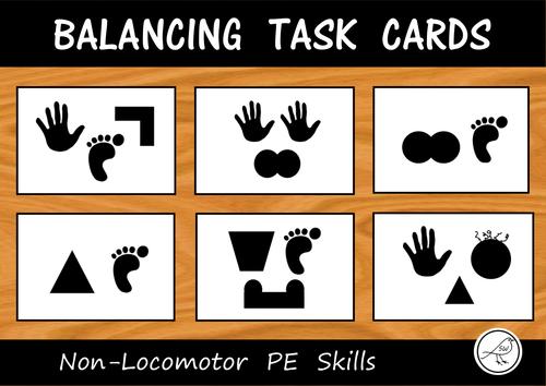 Balance Task Cards for PE
