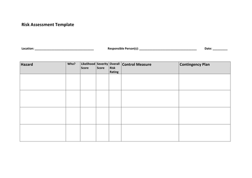 sports lesson plan template - risk assessment physical education btec gcse a level by