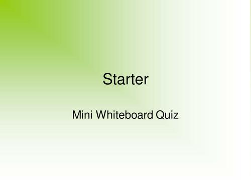 Microscopy presentation, card sort and worksheet