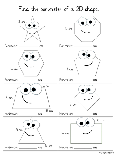 Yr 4 Perimeter Differentiated Worksheets 2d Shapes By