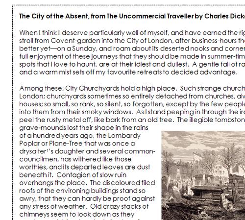 GCSE English Language Paper 2 - 19th Century Non-Fiction Unseen Bundle