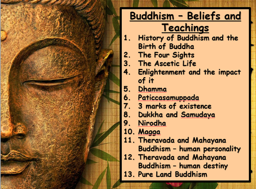 AQA GCSE 2016 Spec - Buddhist Beliefs and Teachings