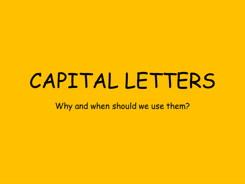 When to Use Capital Letters & Punctuation PowerPoint Presentation