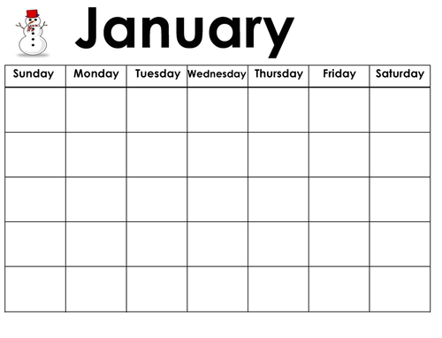 English Calendar - Months & Days