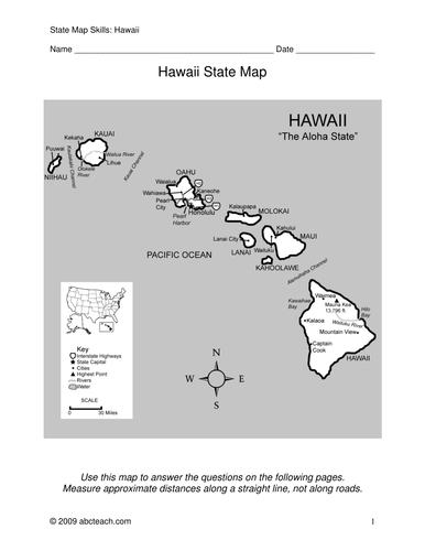 Hawaii - Map Skills