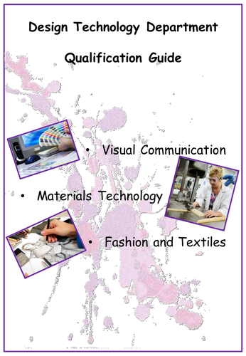 Desgin Technology Technical Awards Options Booklet AQA