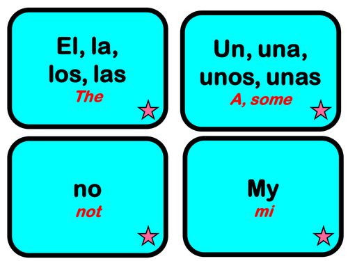Spanish/ English Important Little Words Pequeñas palabras importantes