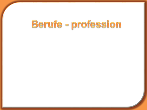 Lesson on Jobs - Die Berufe