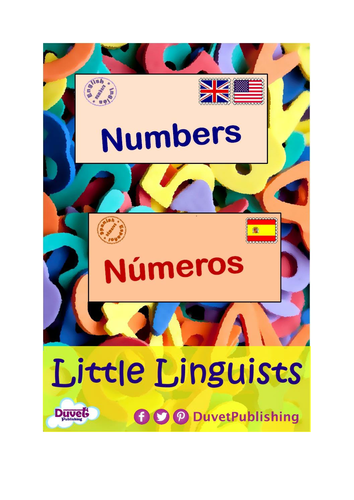 English > Spanish: Numbers & Colours Vocabulary Books