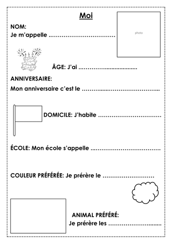 French Basics - KS2 Pupil self-assessment profile cards -  intermediate