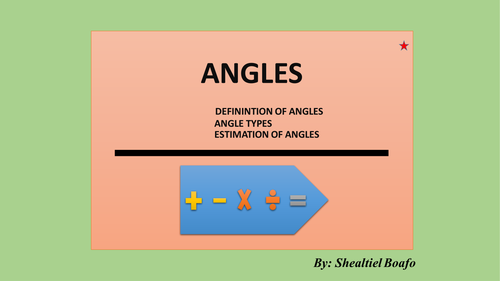 Angle Types and Estimation of Angles