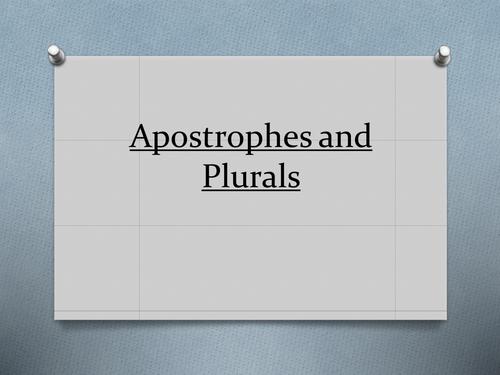 Apostrophes and Plurals