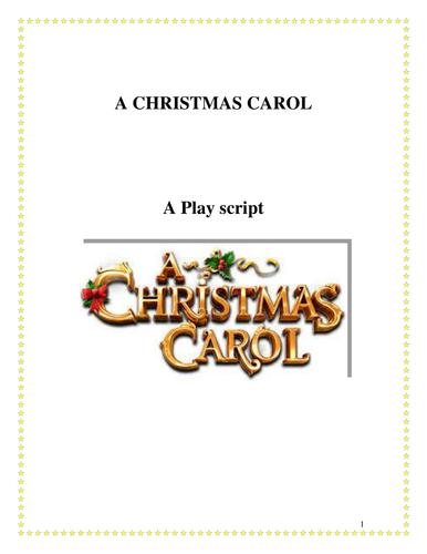 A Christmas Carol Playscript