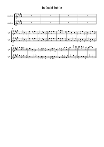 In Dulci Jubilo instrumental for School Ensemble