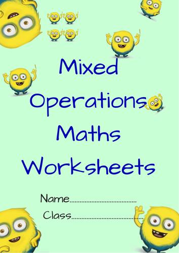 Mixed operations maths worksheets