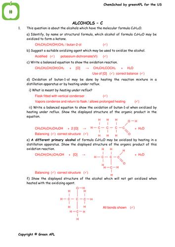ChemSchool: Oxidation of Alcohols
