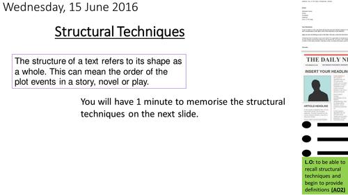 Structural techniques