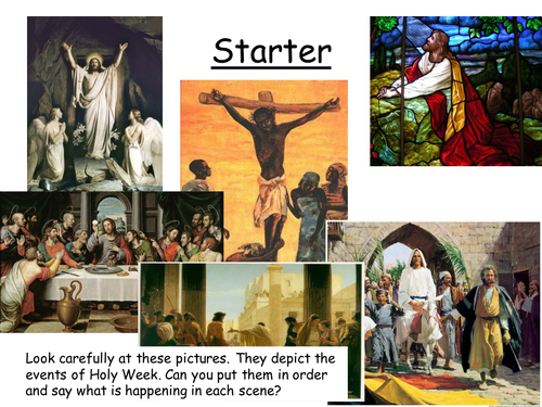 Holy week - without lesson plan