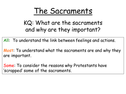 Intro to the sacraments - without lesson plan