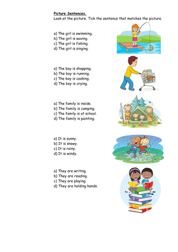 picture sentence comprehension ks1 by youronlydoll teaching resources. Black Bedroom Furniture Sets. Home Design Ideas