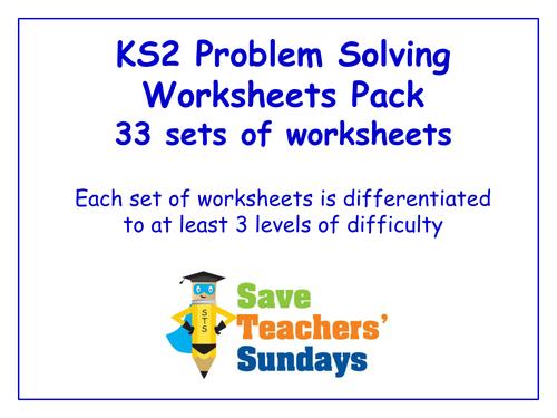 Ks2 Problem Solving Worksheets Pack 33 Sets Of Differentiated