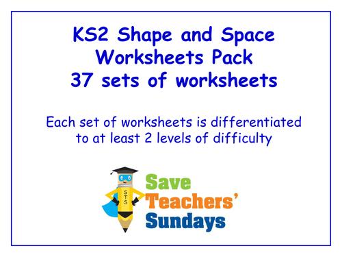 ks2 shape and space worksheets pack 37 sets of worksheets by saveteacherssundays teaching. Black Bedroom Furniture Sets. Home Design Ideas