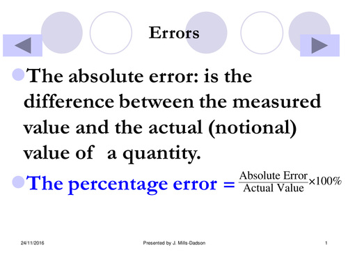 Upper & Lower Bounds and Absolute Errors