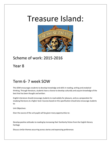 Robert Louis Stevenson PPT and worksheets on 'Treasure Island' by ...