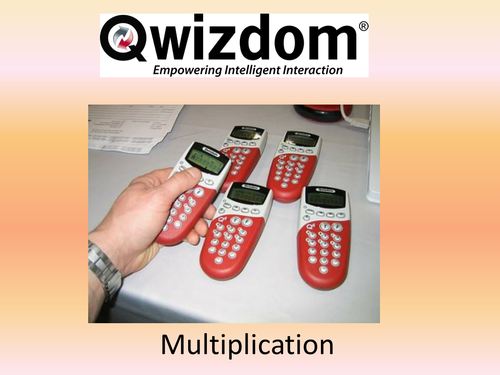 Maths QWIZDOM Powerpoint - Multiplication Revision Quiz
