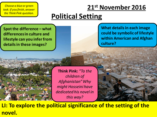 AQA A Level - Social Protest and Political Writing: The Kite Runner Chapters 1 - 6