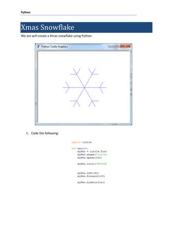 Python Christmas - Create a Xmas snowflake