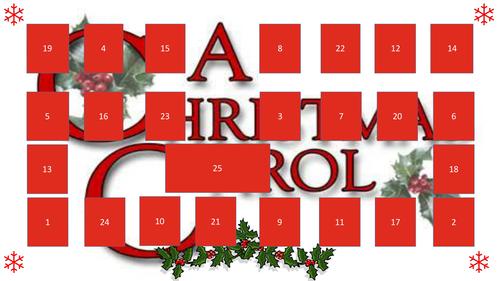 A Christmas Carol advent calendar of lesson openers