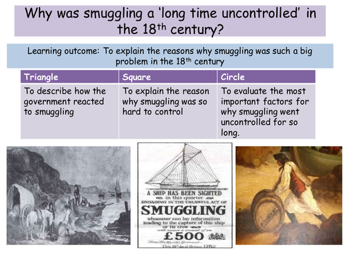 Why was smuggling an issue in the 18th century