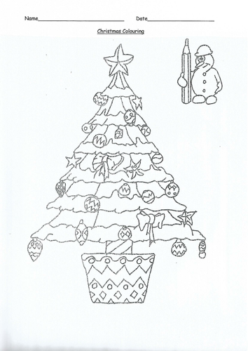 Christmas Colouring | Teaching Resources