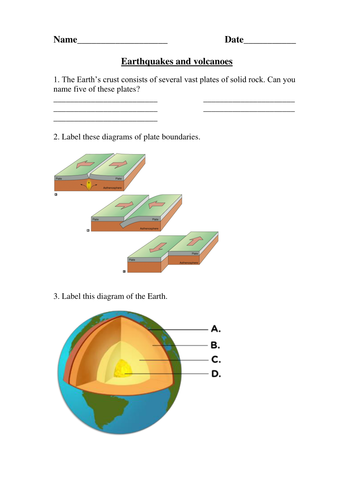 Earthquakes and Volcanoes Test