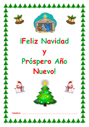 Christmas Spanish.Ks3 Spanish Christmas Activity Booklet