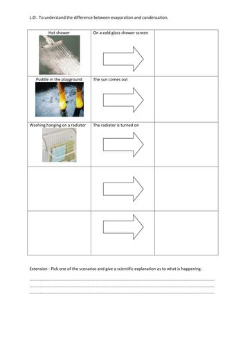 evaporation and condensation worksheet by v1990 teaching resources tes. Black Bedroom Furniture Sets. Home Design Ideas