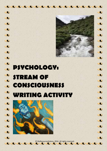 Psychology: Stream of Consciousness Writing Activity