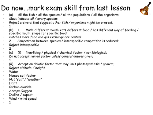 AQA New Spec A-Level Year 2 Chapter 3.7.4 Populations in Ecosystem. Lesson 2 Competition & Predation