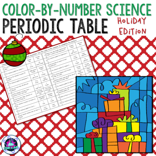 Holiday themed periodic table color by number activity by holiday themed periodic table color by number activity by liezelpienaar teaching resources tes urtaz Images
