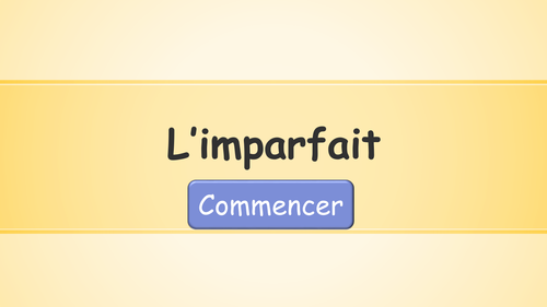 French Imperfect Tense Quiz