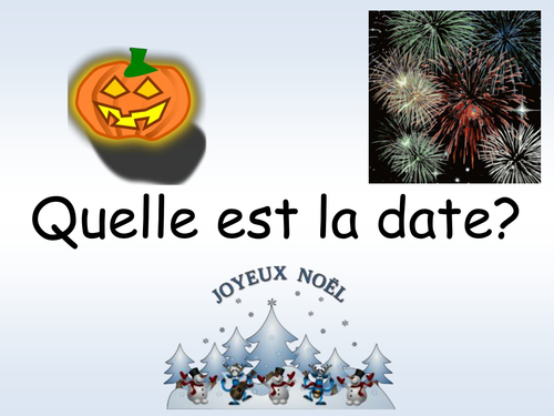 French Basics - powerpoint lesson introducing months and dates
