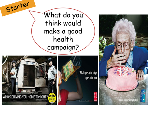 Physical Factors Affecting Health 'Campaign' group assessment GCSE Health and Social Care