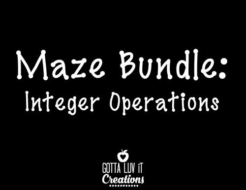 Integer Operations Maze Bundle
