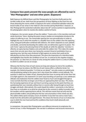 Gcse english war poetry essay free online college essay