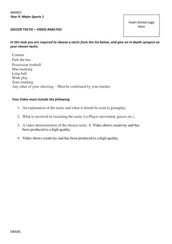 Soccer Analysis Asessment Task