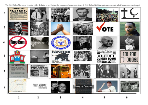 Civil Rights Learning grid revision game